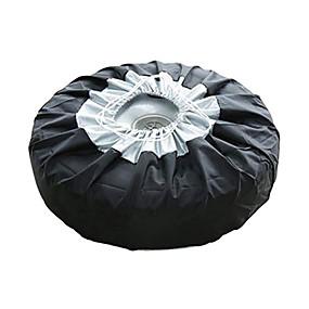 baratos Capas para Carros-tampa da caixa do pneu sacos de armazenamento da tampa do pneu sobressalente do carro levar tote poliéster proteção do pneu cobre