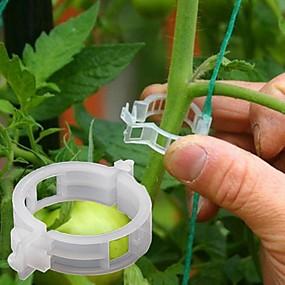 preiswerte Gartengeräte - Set-50 stücke pflanzenreben feste clip gebunden schnalle zurrhaken landwirtschaftlichen gewächshaus gemüse gadget garten kunststoff pflanzer trelli