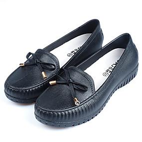 voordelige Damesschoenen met platte hak-Dames Platte schoenen Regenlaarzen Platte hak PVC Lente & Herfst Zwart / Blauw / Roze