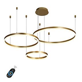 preiswerte Top Seller-LED 90W Kreis Kronleuchter / LED moderne Pendelleuchten für Wohnzimmer Kaffee Bar Showroom / große Größe / warmweiß / weiß / dimmbar mit Fernbedienung / WiFi Smart via Sprachsteuerung