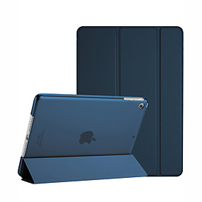 cheap iPad case-Case For Apple iPad Mini 3/2/1 Shockproof / Dustproof / Auto Sleep / Wake Up Full Body Cases Solid Colored Hard PU Leather