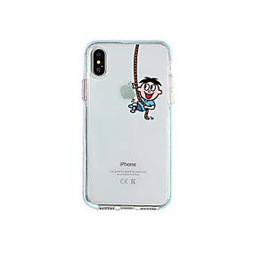 preiswerte Cool & Fashion Hüllen für iPhone-Hülle Für Apple iPhone XR / iPhone XS Max / iPhone X Staubdicht / Transparent / Muster Rückseite Cartoon Design TPU