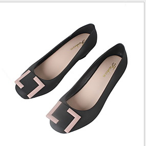 voordelige Damesschoenen met platte hak-Dames Platte schoenen Lage hak Ronde Teen Strik PVC Lente & Herfst Grijs / Paars / Blauw