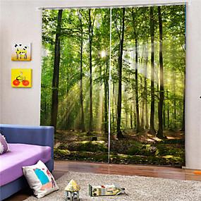 preiswerte 3D Vorhänge-3D-Druck Privatsphäre zwei Platten benutzerdefinierte Polyester-Vorhang für Outdoor-Wohnzimmer dekorative wasserdichte staubdichte hochwertige Vorhänge