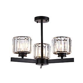 povoljno Lámpatestek-Stropna svjetiljka kristal kristalni lusteri polu ispiranje montirati okrugli kristal čaša privjesak spavaća soba vodio luster privjesak svjetla 3-svjetlo crna k 9 strop privjesak rasvjeta \ t