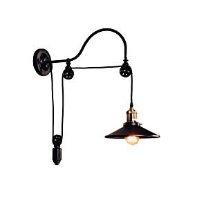 povoljno Lámpatestek-željezo zidna svjetiljka podesiva remenica sconce crna industrijska deco svjetlo zidni nosač za bar koridor metala