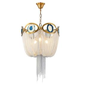povoljno Lámpatestek-3 svjetla aluminijski tok luster / luxry kićanka privjesak svjetlo za dnevni boravak blagovaonica shop soba caffe bar / e14 žarulja nije uključen