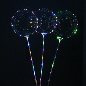 povoljno Nova svjetla-5pcs višekratnu upotrebu svjetleće vodio balon okrugli mjehurić dekoracija vjenčanje infantiles rođendan dekor