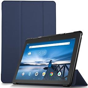 preiswerte Tablet Zubehör-Hülle Für Lenovo Lenovo Tab E10 (TB-X104) Stoßresistent / Magnetisch / Automatisches Schlafen / Aufwachen Ganzkörper-Gehäuse Solide Hart PU-Leder