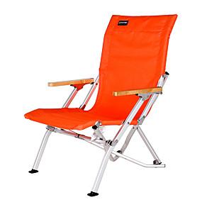 preiswerte Sport & Outdoor-BEAR SYMBOL Strandstuhl Campingstuhl Klappbar Aluminum Alloy Stahl für 1 Person Camping Sommer Schwarz Orange