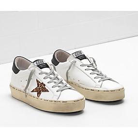 voordelige Damessneakers-Dames Sneakers Comfort schoenen Verborgen hiel Leer Lente Rood / Roze / Amandel