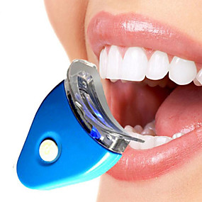 cheap Novelty Lights-BRELONG Teeth Whitening Instrument Mini Household Light cold Teeth Whitening Clean Oral Light Blue Beauty Equipment