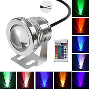 preiswerte Unterwasser Lampen-brelong führte Unterwasserlicht 12v 10w rgb Flutlichtfarbe, die Unterwasserpoollichttauchenlichtbrunnen-Aquariumlicht ändert