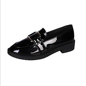 voordelige Damesschoenen met platte hak-Dames Platte schoenen Lage hak Ronde Teen PU Lente Zwart