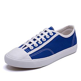 voordelige Damessneakers-Dames Sneakers Platte hak Ronde Teen Canvas Klassiek / Informeel Tennis / Atletiek Lente / Lente zomer Zwart / Rood / Marine Blauw