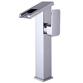 preiswerte Kitchen & Bathroom-Waschbecken Wasserhahn - Wasserfall Galvanisierung Freistehend Einhand Ein LochBath Taps