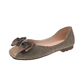 voordelige Damesschoenen met platte hak-Dames Platte schoenen Platte hak Suède Zomer Zwart / Koffie