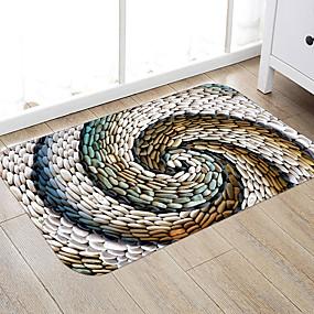 levne Podložky a koberečky-1ks moderní koupelnové rohože koženkové geometrické zesílení / protiskluz