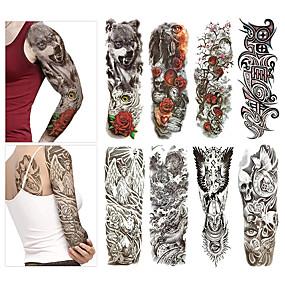 cheap Temporary Tattoos-8 pcs Temporary Tattoos Eco-friendly / Disposable Body / brachium / Back Card Paper