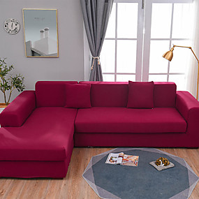 cheap Slipcovers-Sofa Cover Stretch Cheap Couch Cover 1 Piece Solid Color Slipcovers Gray Soft Durable Slipcovers Spandex Jacquard Fabric Washable Furniture Protector