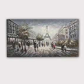 preiswerte Bekannte Meisterwerke-Handgemaltes Ölgemälde 3d - moderner gerollter Qualitäts-Antilopen-Eiffelturm des abstrakten Porträtauszugs