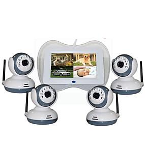 preiswerte Baby Monitore-Factory OEM® 0.3 mp Babyphone CMOS 360 ° ° C Nachtsichtbereich 5 m 0 GHz