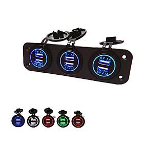 povoljno Punjači za auto-5v 3.1a auto punjač tri rupe ploča s 6 usb port vodootporan strujni adapteri utičnicu