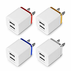 billige Veggladere-usb dobbel vegg rask lader adapter 1a 2a 5v for android / galaxy / iphone