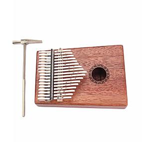 preiswerte Schlaginstrumente-Kalimba 17 Key Finger Mbira Sanza Thumb Piano Holz 18.5*13.5*3.2 cm
