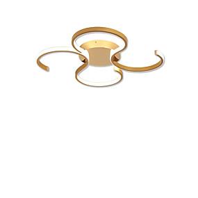 cheap Ceiling Lights & Fans-2-Light 49 cm LED Flush Mount Lights Metal Linear Brushed / Gold LED / Modern 110-120V / 220-240V