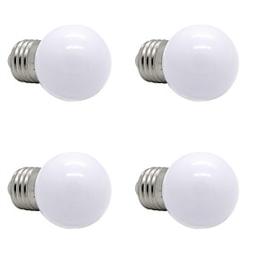 billige Globepærer med LED-4stk 1 W LED-globepærer 90-120 lm E26 / E27 G45 12 LED perler SMD 2835 Dekorativ Varm hvit Naturlig hvit Hvit 220-240 V