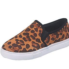 voordelige Damesschoenen met platte hak-Dames Platte schoenen Platte hak Ronde Teen PU Zomer Zwart / Luipaard / Geel