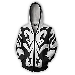 cheap Athleisure Wear-Inspired by Kingdom Hearts Cosplay Coat Terylene Print For Men's / Women's
