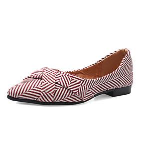 voordelige Damesschoenen met platte hak-Dames Platte schoenen Platte hak Polyester Lente & Herfst / Zomer Zwart / Rood