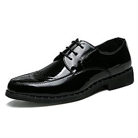 povoljno Cipele i torbe-Muškarci Udobne cipele PU Ljeto Ležerne prilike Oksfordice Non-klizanje Color block Zlato / Crn