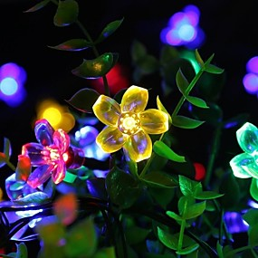 cheap Light Strips & Strings-LOENDE 2m 20 LEDs Cherry Blossom String Lights Batteries Powered Christmas Festival Indoor Decoration Outdoor Courtyard Lighting Decorative