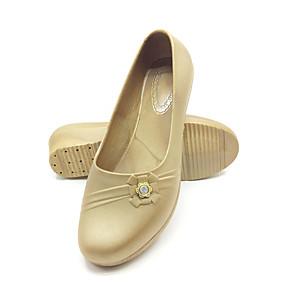 voordelige Damesschoenen met platte hak-Dames Platte schoenen Sleehak Ronde Teen Sprankelend glitter PVC Informeel Zomer Zwart / Roze / Khaki