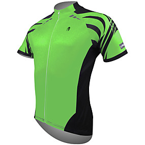 cheap Cycling & Motorcycling-21Grams Men's Short Sleeve Cycling Jersey Summer Polyester White Yellow Red Bike Jersey Top Mountain Bike MTB Road Bike Cycling Ultraviolet Resistant Quick Dry Lightweight Sports Clothing Apparel