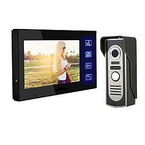 preiswerte Video Türsprechanlage-LITBest 806M11 Mit Kabel Eingebauter Lautsprecher 7 Zoll Freisprechanlage 800*480 Pixel One to One-Video-Türsprechanlage