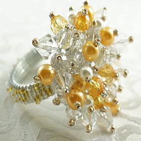 preiswerte Servietten-Ring-Klassisch arylic Kreisförmig Servietten Ring Mit Mustern Weihnachten Blume Halloween Tischdekorationen 12 pcs