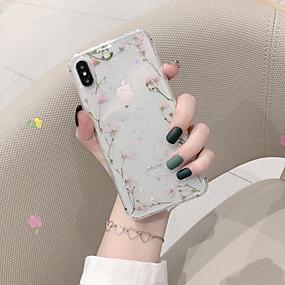 povoljno Cool i modni slučajevi za iPhone-Θήκη Za Apple iPhone XS / iPhone XR / iPhone XS Max Otporno na trešnju / Uzorak Stražnja maska Cvijet TPU