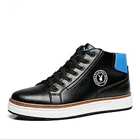 voordelige Damessneakers-Unisex Sneakers Platte hak Ronde Teen Polyester Lente Wit / Zwart / Donkerblauw