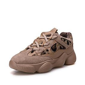 voordelige Damessneakers-Dames Sneakers Platte hak Ronde Teen Polyester Lente Donker Grijs / Amandel