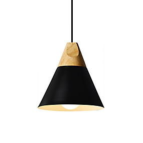povoljno Lámpatestek-nordski stil privjesak za drvo svjetlost jednostavnost moderna metalna hladovina dnevna soba blagovaonica spavaća soba privjesak svjetiljka