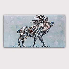 preiswerte Bekannte Meisterwerke-Handgemaltes Ölgemälde 3d - moderne gerollte Qualitätsantilope des abstrakten Porträtauszuges