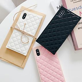 povoljno Cool i modni slučajevi za iPhone-Θήκη Za Apple iPhone XS / iPhone XR / iPhone XS Max Protiv prašine / Backup Stražnja maska Geometrijski uzorak PU koža / PC