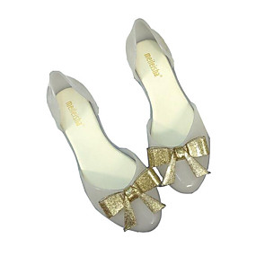 voordelige Damesschoenen met platte hak-Dames Platte schoenen Platte hak PVC Lente & Herfst Zwart / Rood / Amandel