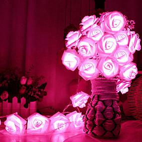preiswerte 9. Jubiläums - Angebote-2m rosafarbene Schnur beleuchtet 20 leds dekoratives 5v 1set des blauen / rosafarbenen / multi Farbenhochzeitsfestivals