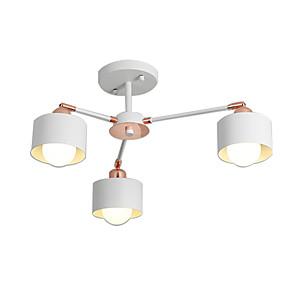 preiswerte Beleuchtung-sputnik kronleuchter 3 lichter pendelleuchte semi flush downlight lackiert galvanisiertes metall weiß roségold