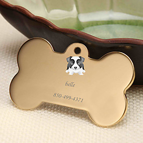 cheap Engraved Pet Tags-Personalized Customized Border Collie Dog Tags Classic Gift Daily 1pcs Gold Silver Rose Gold